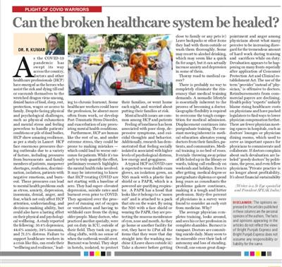 Can the broken healthcare system be healed?